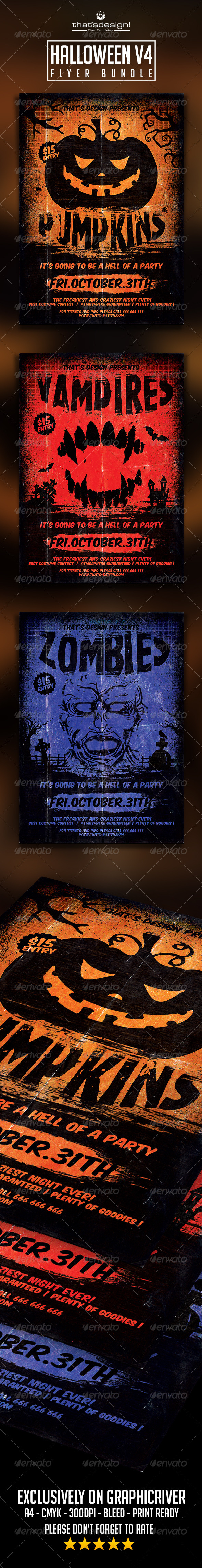 GraphicRiver Halloween Flyer Template V4 8545606