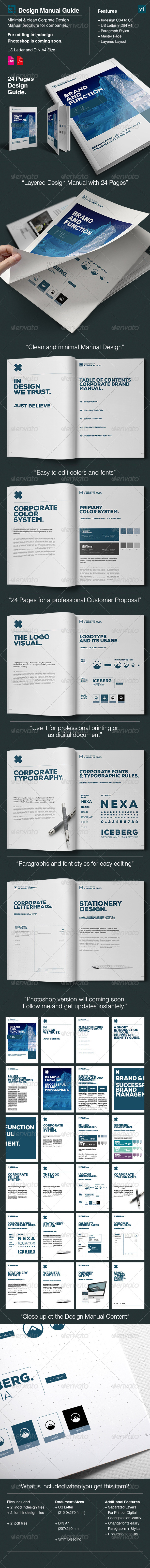 GraphicRiver Corporate Design Manual Guide 24 Pages 8545655
