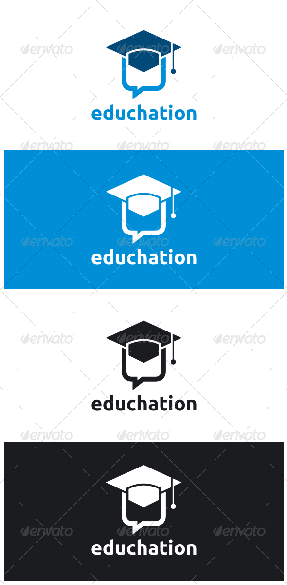 GraphicRiver Education Chat Logo 8545671