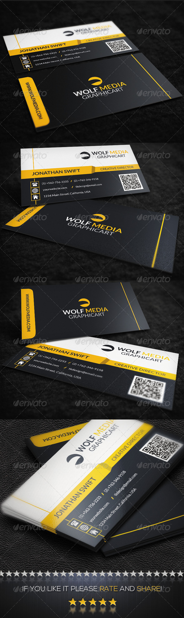 GraphicRiver Modern Corporate Business Card 8545823