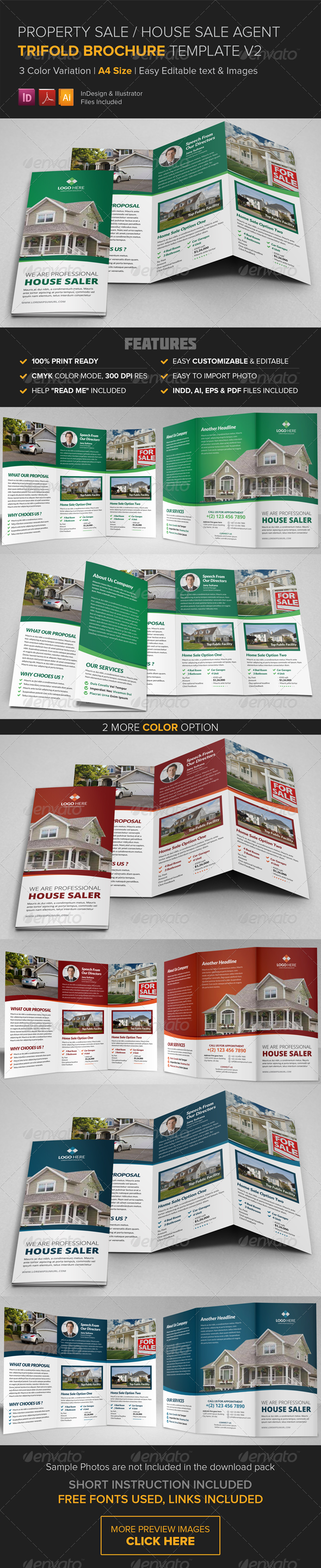 GraphicRiver Property Sale Trifold Brochure Template v2 8545969