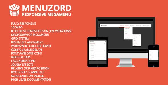 CodeCanyon Menuzord Responsive Megamenu 8536398