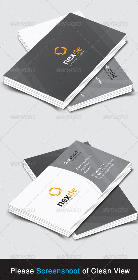 GraphicRiver Nexde Corporate Business Card 8546082