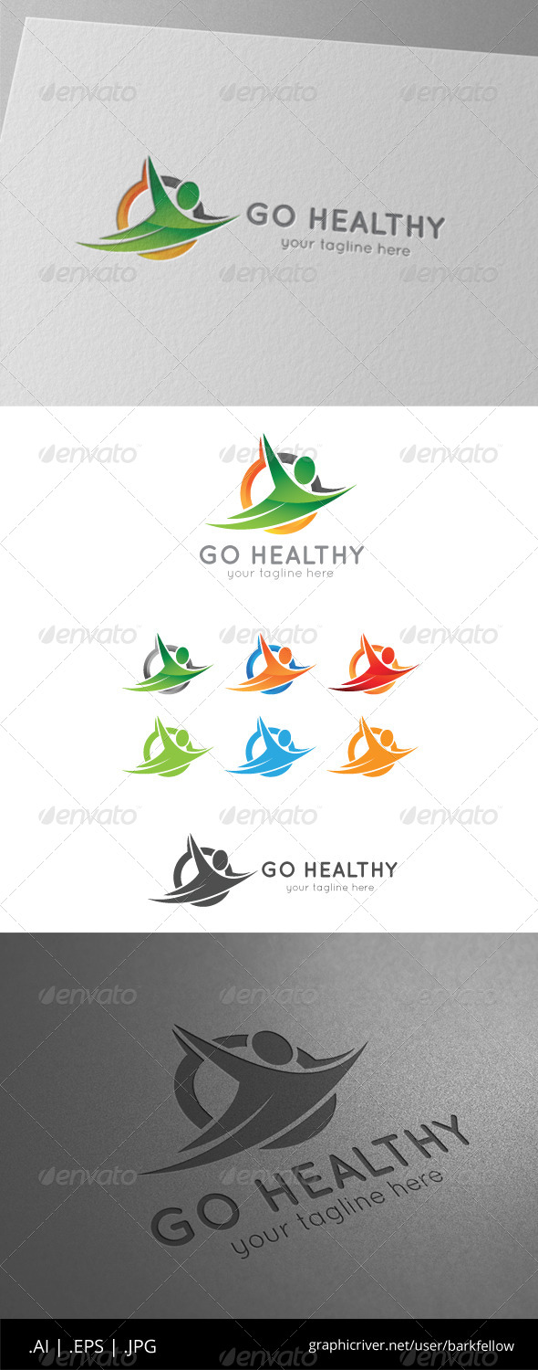GraphicRiver Go Healthy Live Logo 8546290
