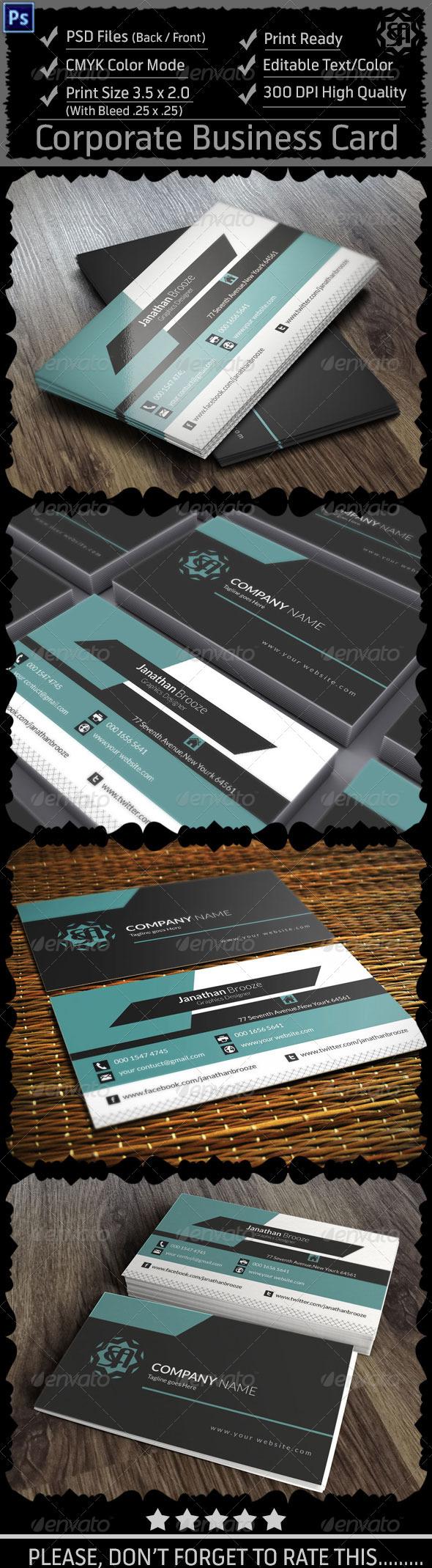 GraphicRiver Corporate Business Card Vol 9 8546374