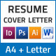 Resume and Cover Letter – A4 and Us Letter Sizes - GraphicRiver Item for Sale
