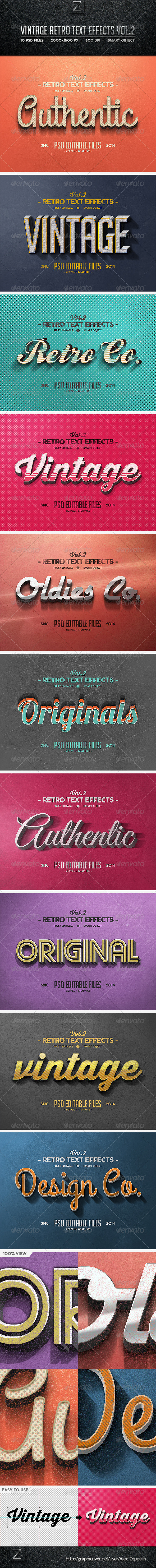 GraphicRiver Vintage Text Effects Vol.2 8540775