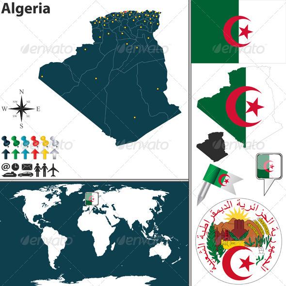 GraphicRiver Map of Algeria 8546516