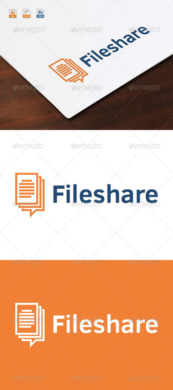 GraphicRiver Fileshare Logo 8546857