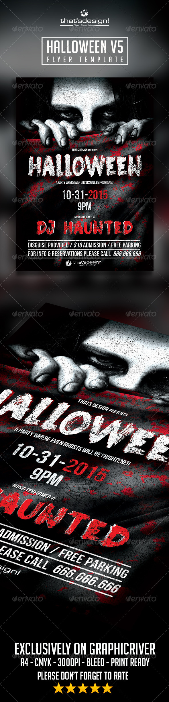 GraphicRiver Halloween Flyer Template V5 8546869
