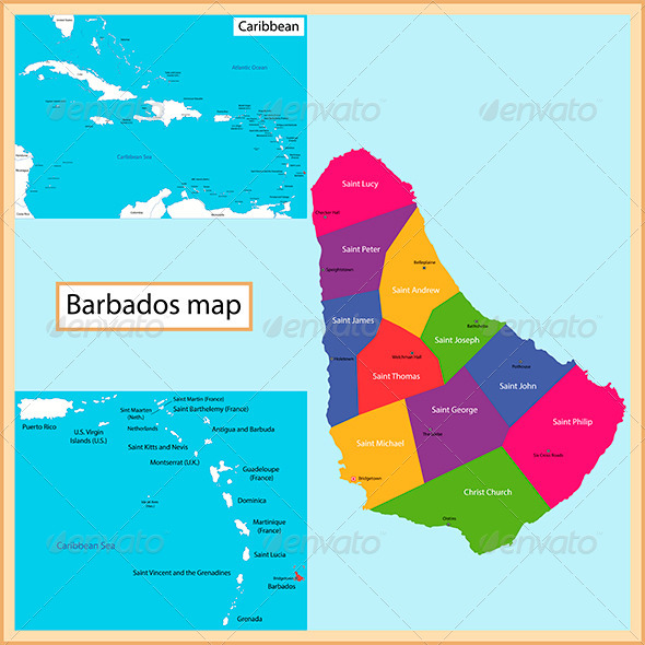 GraphicRiver Barbados Map 8546953