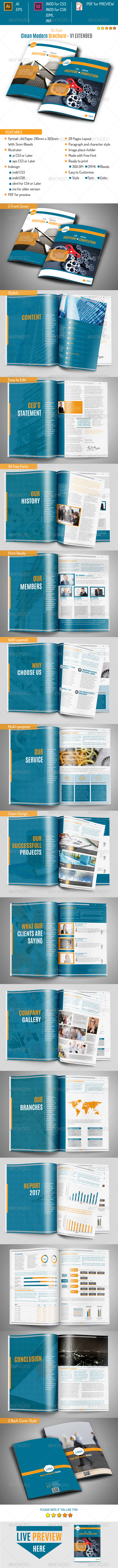 GraphicRiver Clean Moderm Brochure v1 Extended 8547050