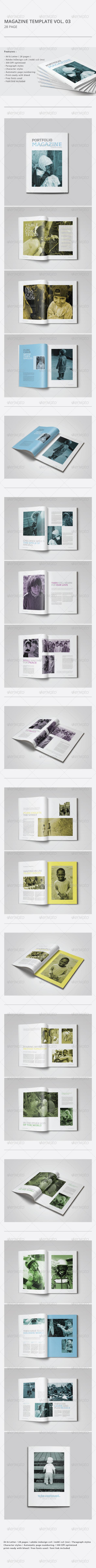 GraphicRiver Indesign Magazine Template Vol.03 8547194
