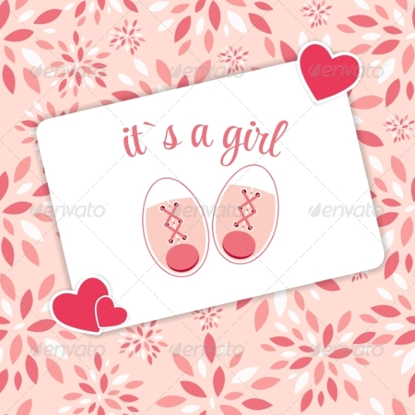 GraphicRiver Vector Illustration of Pink Baby Shoes for Newborn 8547844