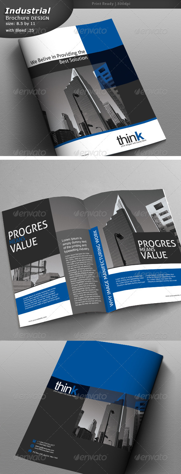 GraphicRiver Industrial Brochure Design 8547923