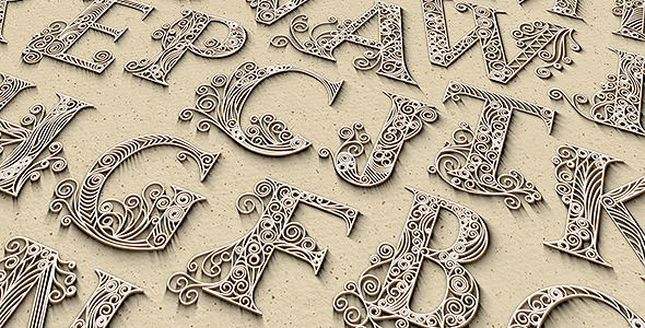 VideoHive Quilling Letters 8547971