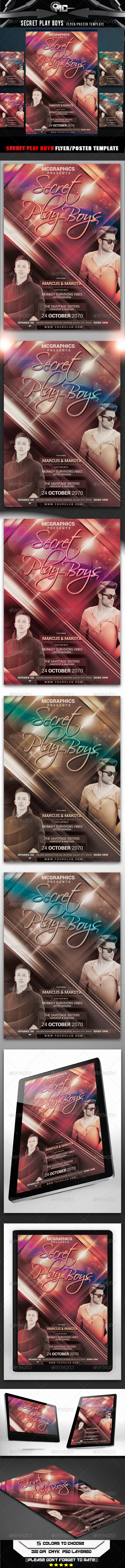 GraphicRiver Secret Play Boys Flyer Poster Template 8548033