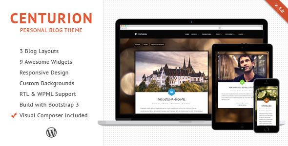 ThemeForest Centurion WordPress Blog Theme 8548252