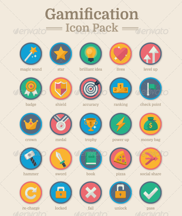 GraphicRiver Gamification Icon Pack 8548288