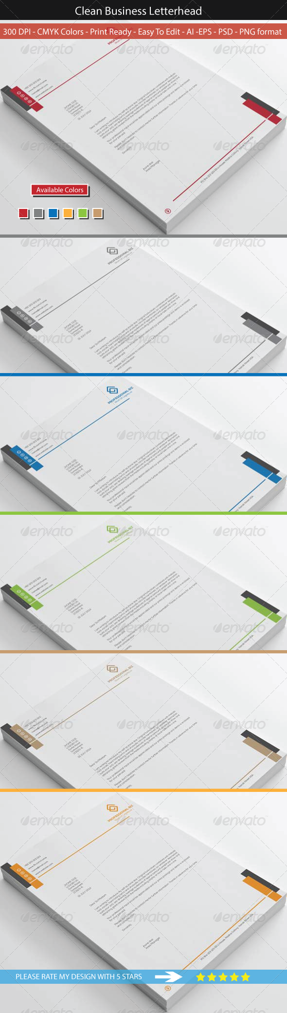 GraphicRiver Clean Corporate Business Letterhead 8543319