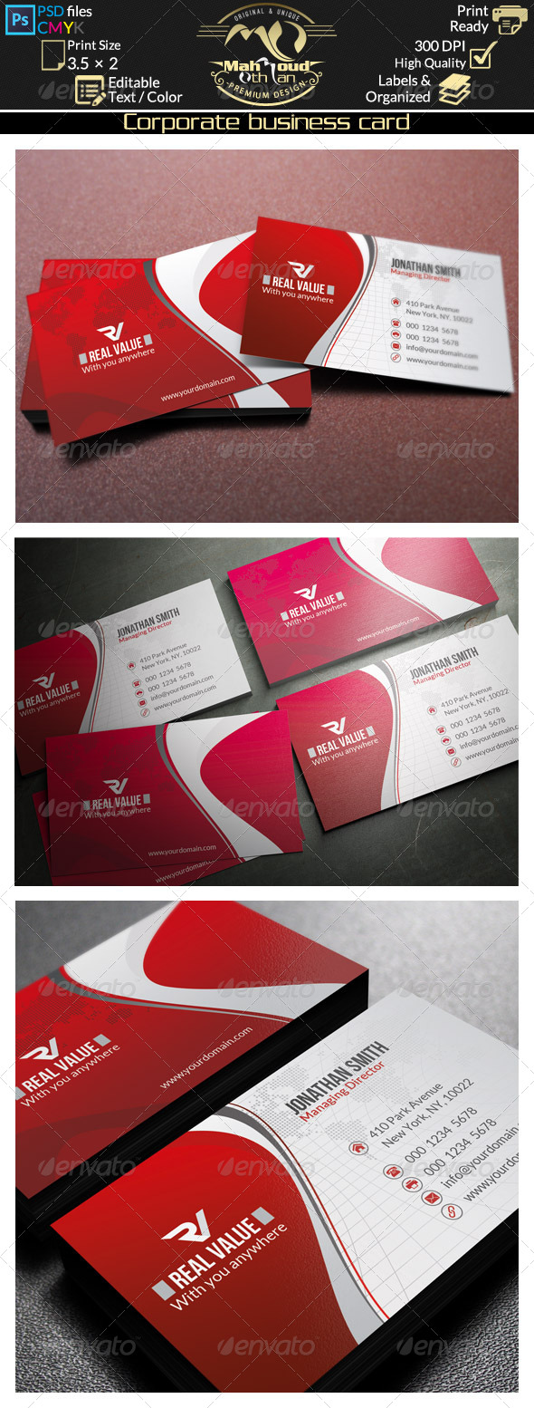 GraphicRiver Corporate Business Card 42 8548362