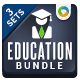 Education Banner Bundle - 3 Sets - GraphicRiver Item for Sale