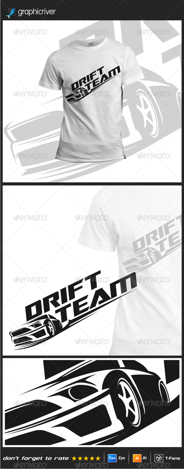 GraphicRiver Drift Team T-Shirts 8548535