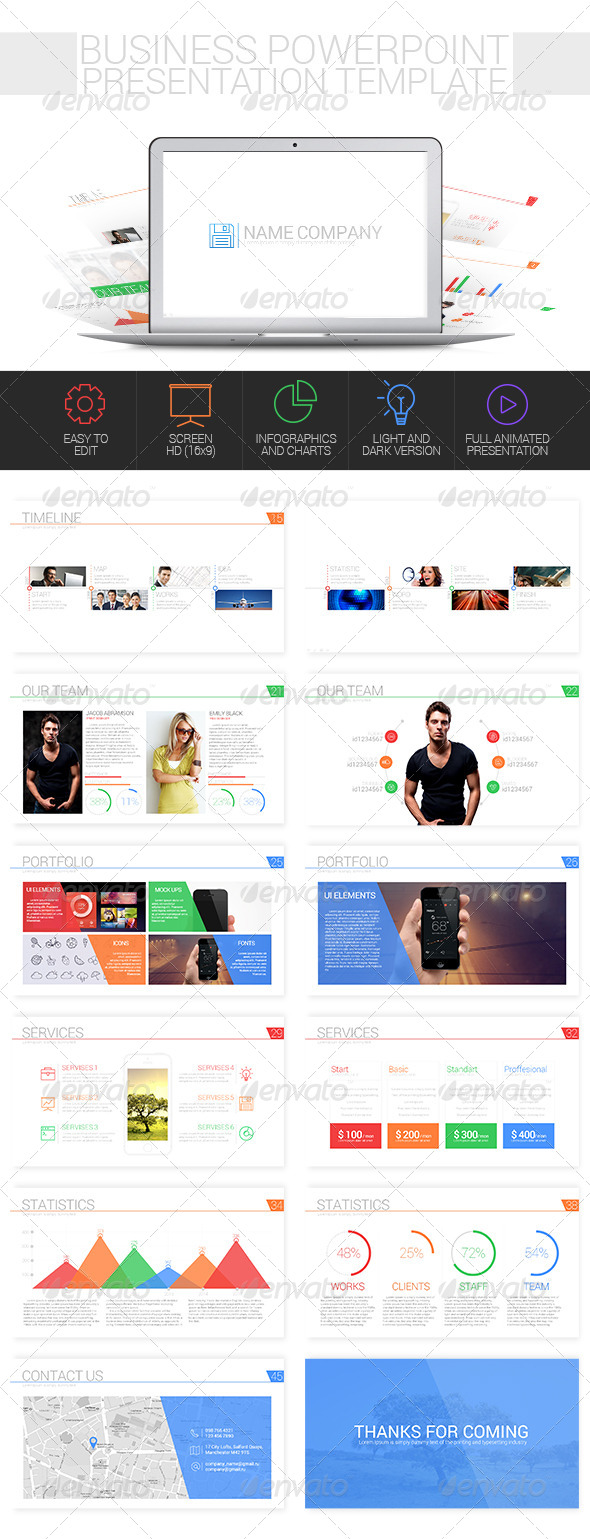 GraphicRiver Business Powerpoint Presentation Template 8545218