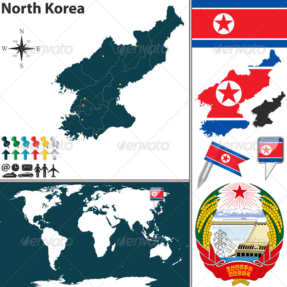 GraphicRiver Map of North Korea 8548686