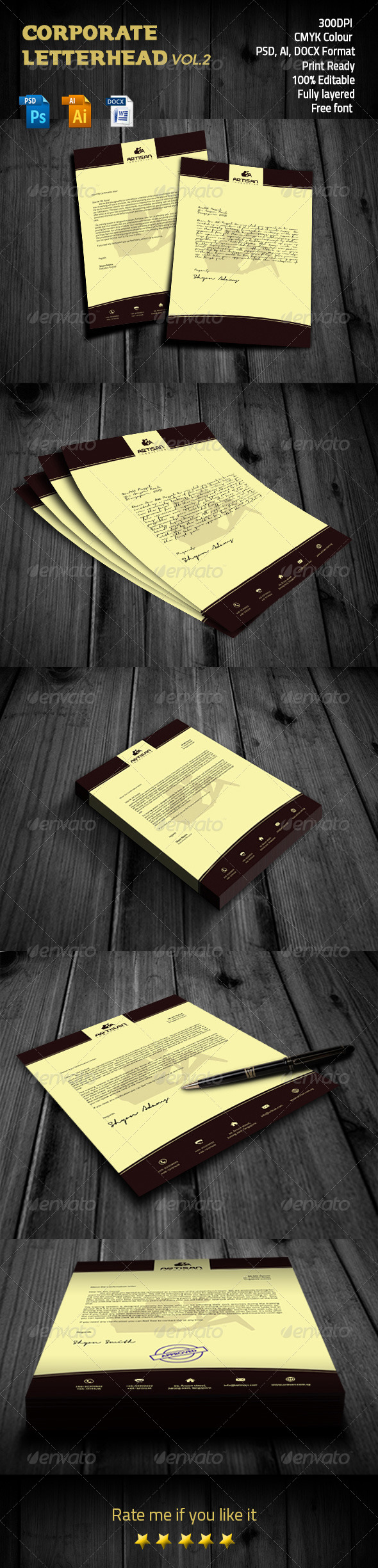 GraphicRiver Corporate letterhead Vol.2 8548931