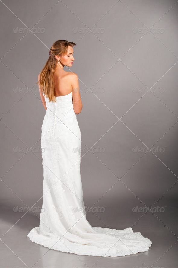 bride in wedding dress - Stock Photo - Images