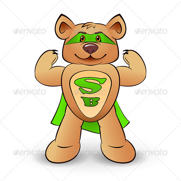 GraphicRiver Super Bear 8549355