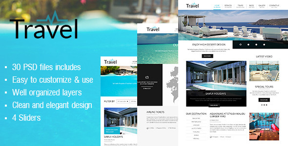 Travel PSD Template - PSD Templates
