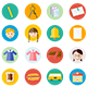 Back to School Flat Icons - GraphicRiver Item for Sale