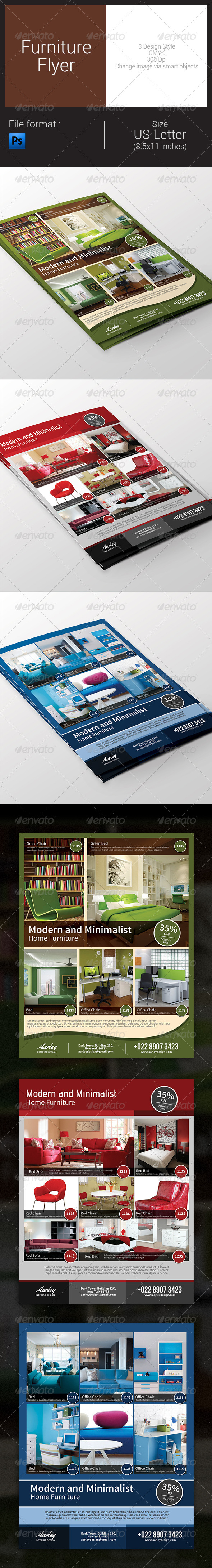 GraphicRiver Furniture Flyer 8550093