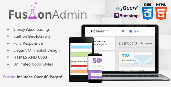 ThemeForest Fusion Responsive Admin Dashboard 8525579