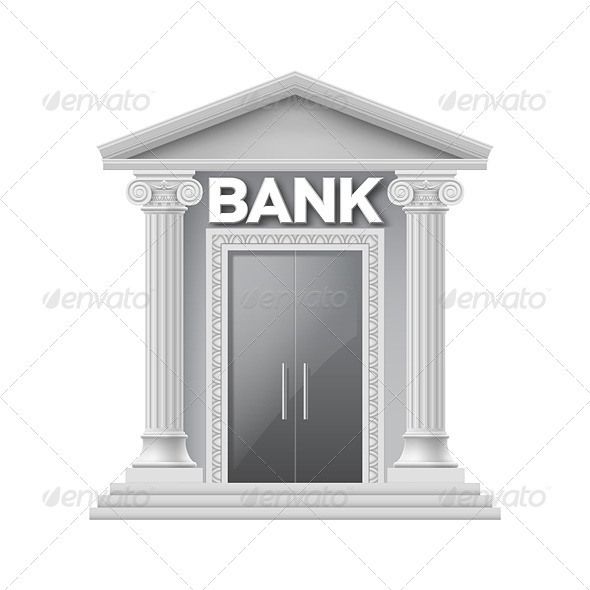 GraphicRiver Stone Building of Bank 8550297