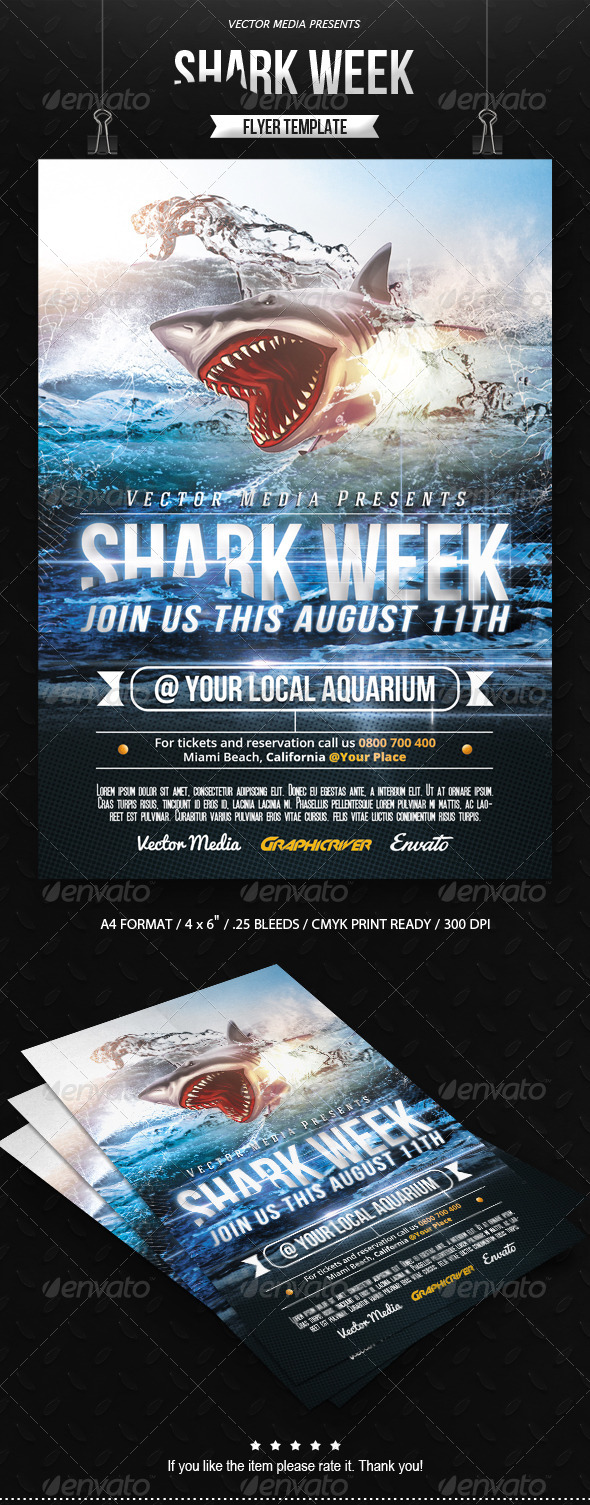 GraphicRiver Shark Week Flyer 8550390