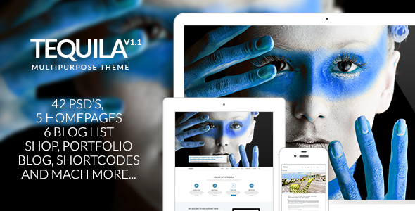 ThemeForest TEQUILA Multi-Purpose PSD Template 8535647