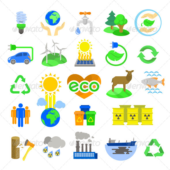 GraphicRiver Eco Icons 8550477