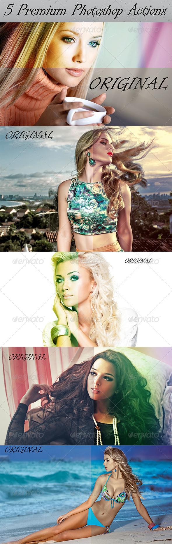 GraphicRiver 5 Premium Photoshop Actions 8550512