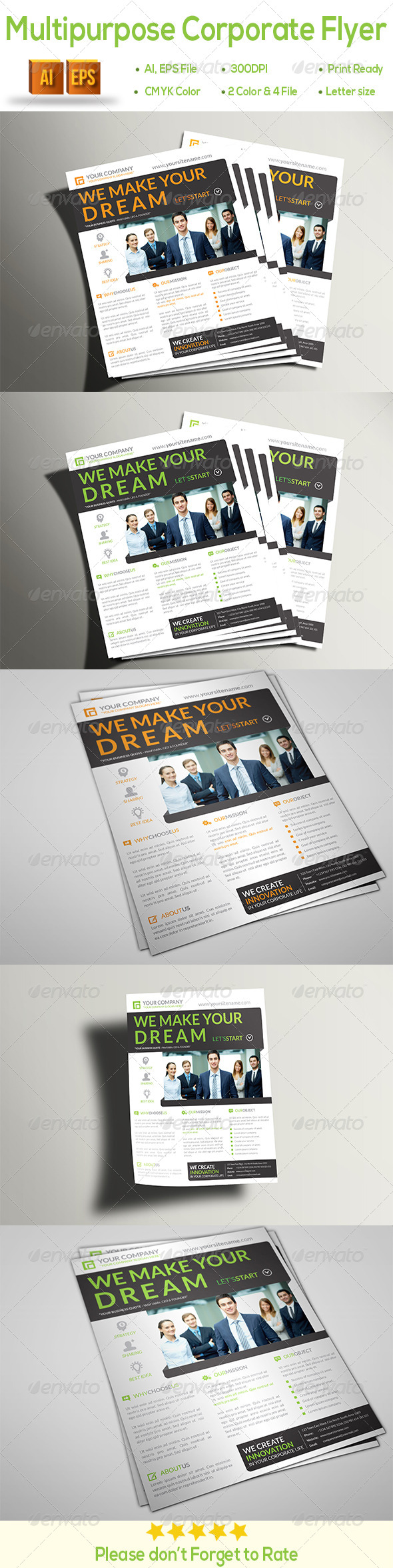 GraphicRiver Multipurpose Corporate Flyer 8550585