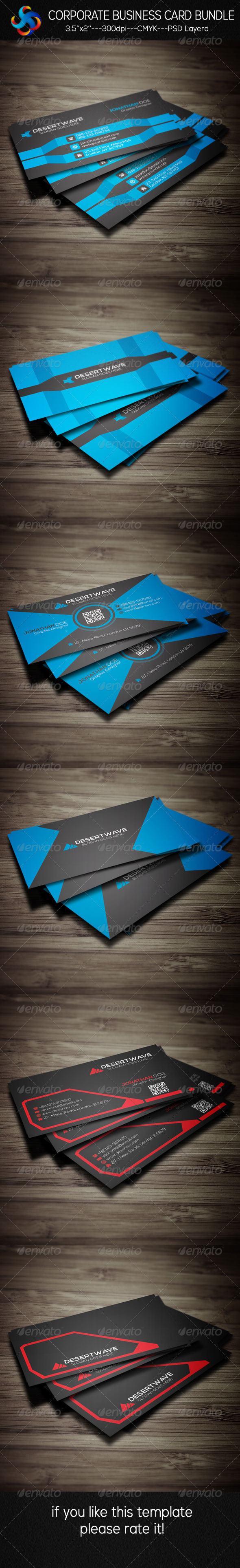 GraphicRiver Corporate Business Card Bundle 8550604