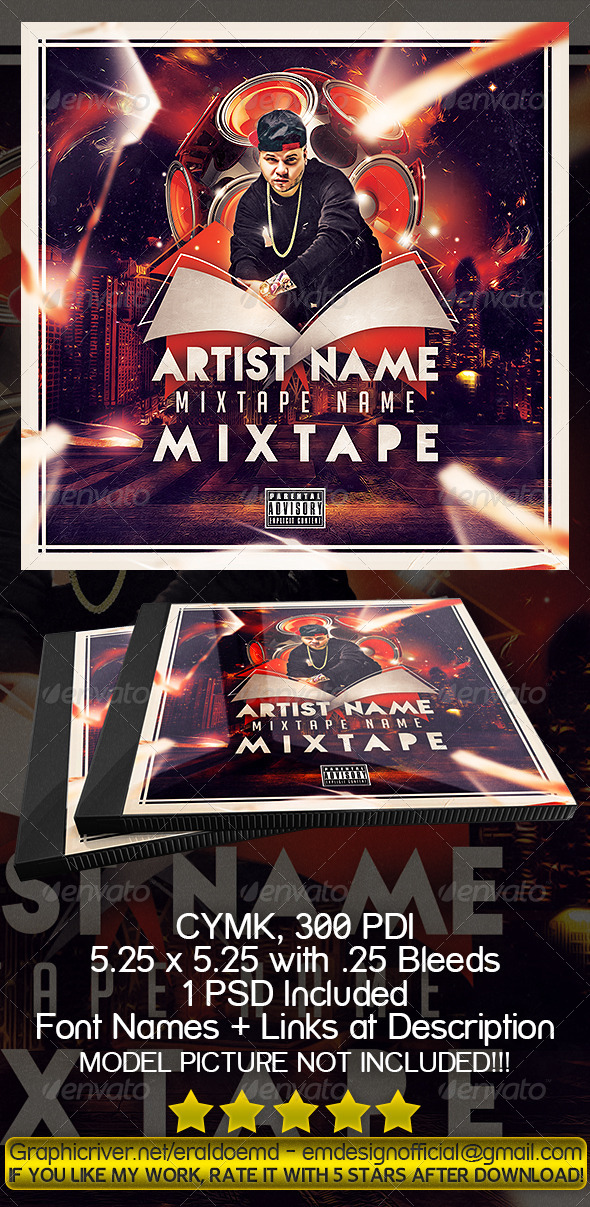 GraphicRiver CD Mixtape Cover 8550628