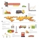 Oil Extraction and Processing Infographics Icons  - GraphicRiver Item for Sale