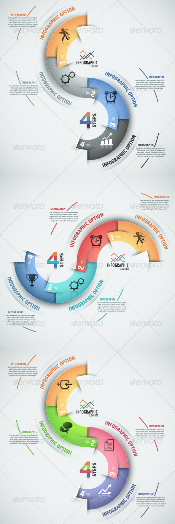 GraphicRiver Modern Infographic Process Template 3 Versions 8550851