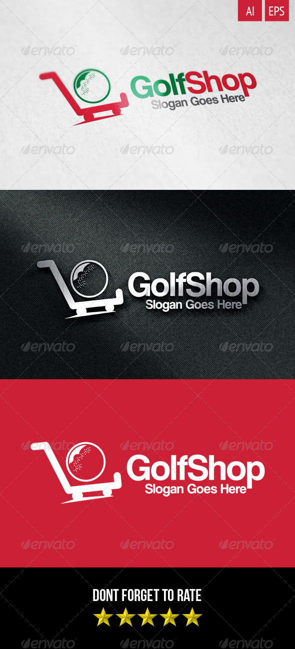 GraphicRiver Golf Shop Logo 8550900