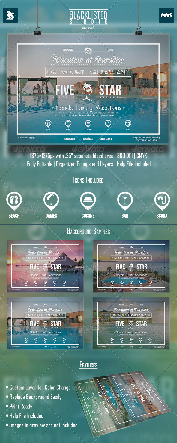 GraphicRiver Vacation Flyer 8548933