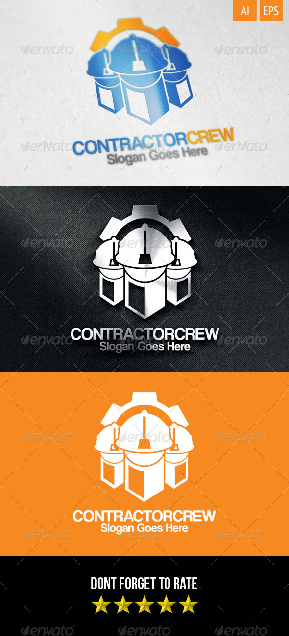 GraphicRiver Contractor Crew Logo 8551111