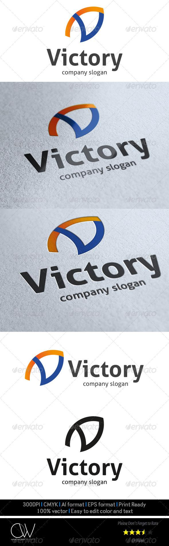 GraphicRiver V Letter Logo 8551173